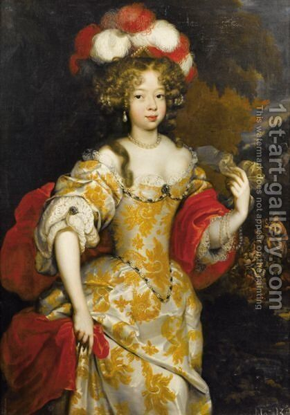 Portrait Allegorique D'Hortense Mancini, Duchesse De Mazarin (1646-1699) by (after) Henri Gascars - Reproduction Oil Painting