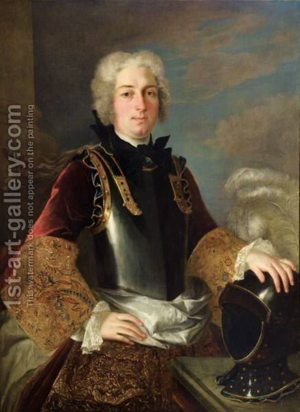 Portraits Of Gentlemen Armour-Clad by (after) Jean-Baptiste Oudry - Reproduction Oil Painting