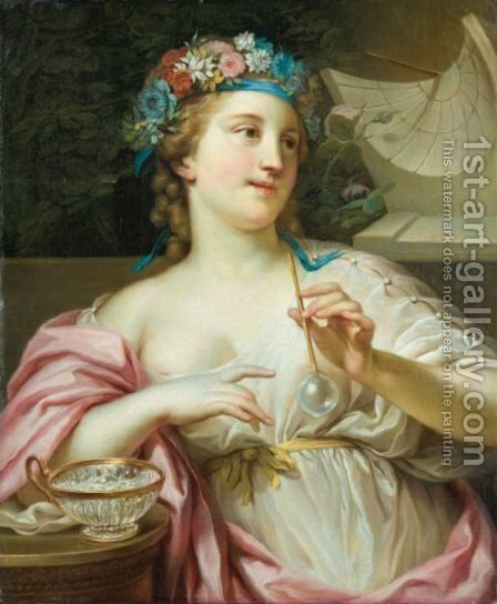 The Allegory Of Time by (after) Joseph-Marie Vien - Reproduction Oil Painting