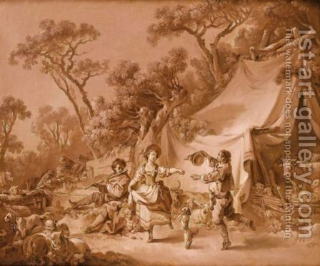 Pastoral scenes by Jean-Baptiste Huet - Reproduction Oil Painting