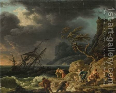 Le Naufrage by Claude-joseph Vernet - Reproduction Oil Painting
