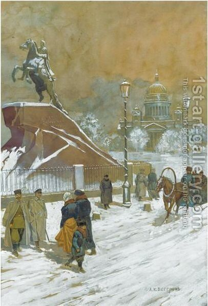 The Bronze Horseman by (after) Aleksandr Karlovich Beggrov - Reproduction Oil Painting