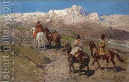 Cossacks by Franz Roubaud - Reproduction Oil Painting
