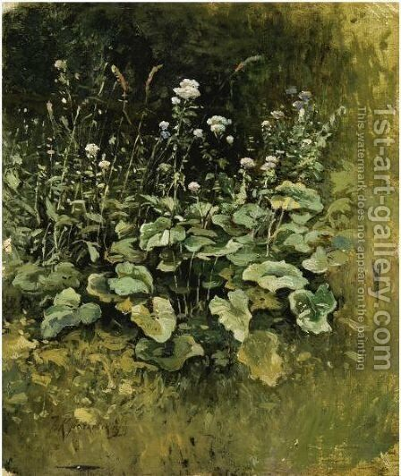 Wild Grass by Iosif Evstafevich Krachkovsky - Reproduction Oil Painting