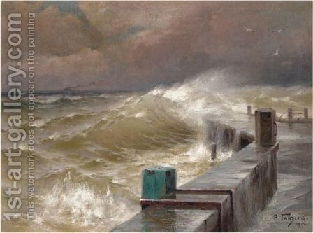 The Storm by Aleksei Vasilievich Hanzen - Reproduction Oil Painting