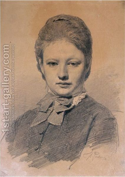 Portrait Of The Artist's Sister-In-Law by Ilya Efimovich Efimovich Repin - Reproduction Oil Painting
