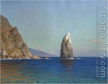 The Sail Rock, Yalta by Mikhail Stepanovitch Tkachenko - Reproduction Oil Painting