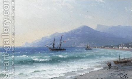 Crimean Coast by Ivan Konstantinovich Aivazovsky - Reproduction Oil Painting