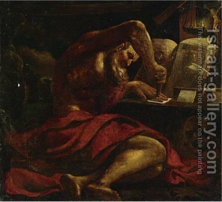 Saint Jerome by (after) Giovanni Francesco Guercino (BARBIERI) - Reproduction Oil Painting