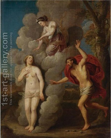 Diana Discovering Callisto's Pregnancy by Italian School - Reproduction Oil Painting
