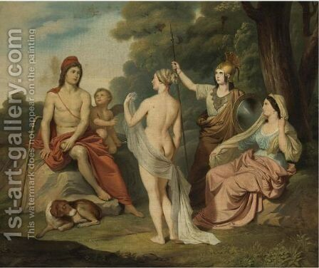 The Judgment Of Paris by (after) David, Jacques Louis - Reproduction Oil Painting