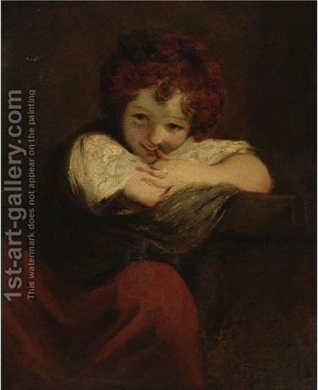 The Laughing Girl by (after) Sir Joshua Reynolds - Reproduction Oil Painting