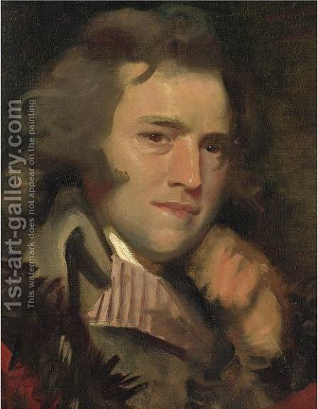 Portrait Of Anthony Pasquin by Mather Brown - Reproduction Oil Painting