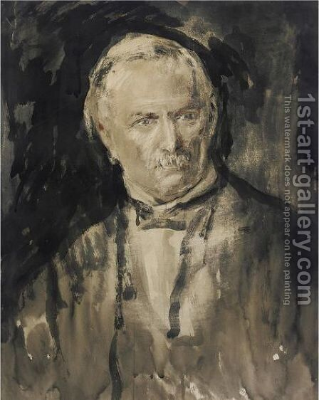 Portrait Of Rt. Hon. David Lloyd George by Ambrose McEvoy - Reproduction Oil Painting