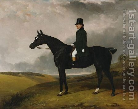 Daniel Haigh, Master Of The Old Surrey And Burstow Hunt On His Horse Kitten by Abraham Cooper - Reproduction Oil Painting