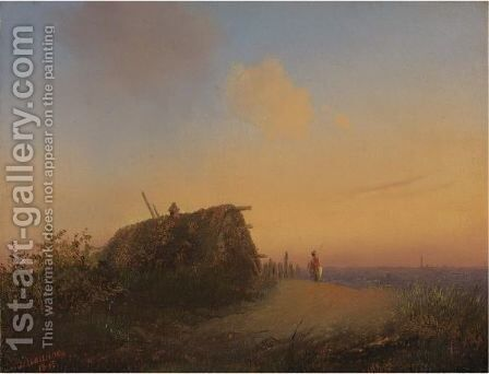 Landscape With Peasant House, 1845 by Alexander Ivanov - Reproduction Oil Painting