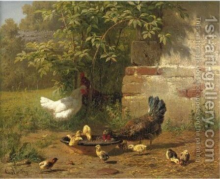 Meal Time by Carl Jutz - Reproduction Oil Painting
