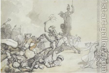 Downfall Of Monopoly by Thomas Rowlandson - Reproduction Oil Painting
