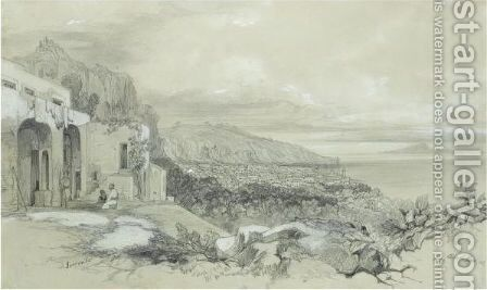 A View Of Sorrento, Italy by Edward Lear - Reproduction Oil Painting