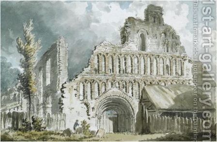 St. Botolph's Priory, Colchester, Essex by Edward Dayes - Reproduction Oil Painting