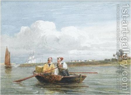 Peter Boat Near Half Way House At Gravesend by David Cox - Reproduction Oil Painting