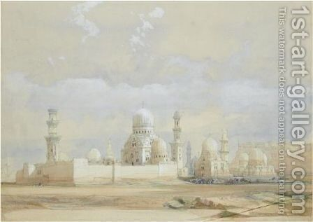 Tombs Of The Mamelukes, Cairo by David Roberts - Reproduction Oil Painting