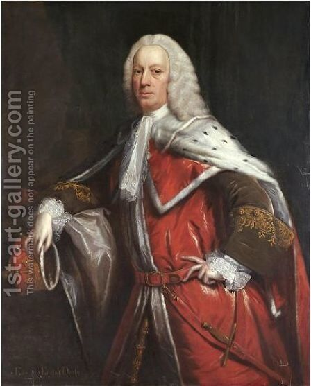 Portrait Of Edward, 11th Earl Of Derby by Henry Pickering - Reproduction Oil Painting