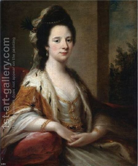 Portrait Of Mary Middleton, Mrs Ralph Clavering by Angelica Kauffmann - Reproduction Oil Painting