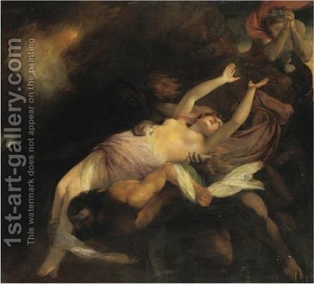 Eurydice Hurried Back To The Infernal Regions by Henry Thomson - Reproduction Oil Painting