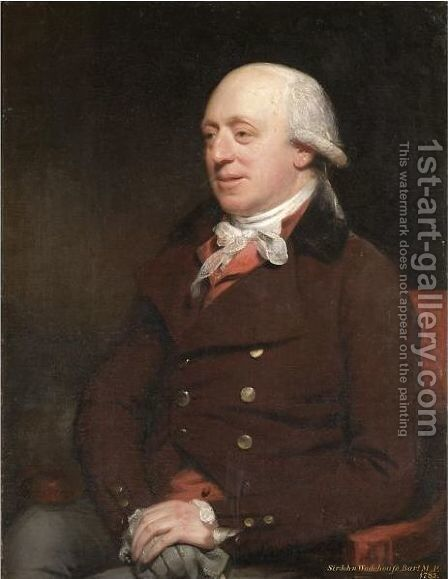 Portrait Of Sir John Wodehouse M.P. Norfolk (1741-1834) by Sir William Beechey - Reproduction Oil Painting