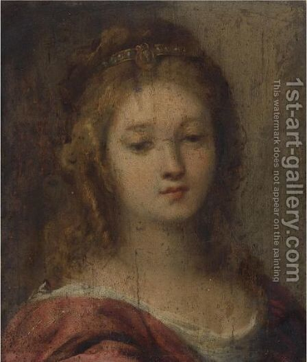 Head Of A Woman by Carlo Francesco Nuvolone - Reproduction Oil Painting