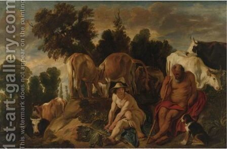 Landscape With Mercury And Argus by Jacob Jordaens - Reproduction Oil Painting