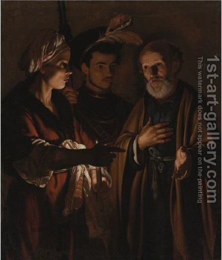 The Denial Of Saint Peter by Adam de Coster - Reproduction Oil Painting