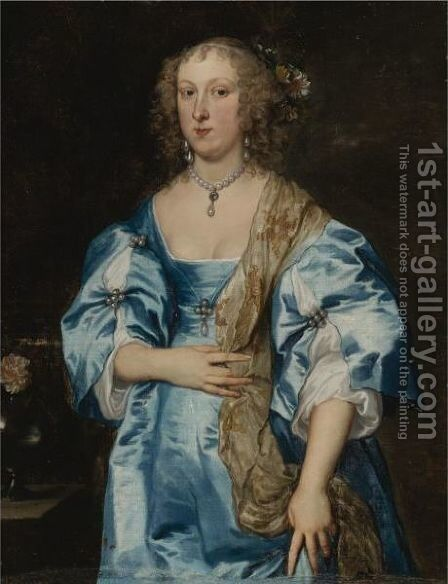 Portrait Of A Lady 2 by Sir Anthony Van Dyck - Reproduction Oil Painting