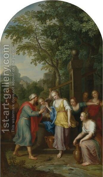 Jacob And Rachel At The Well by Balthasar Beschey - Reproduction Oil Painting