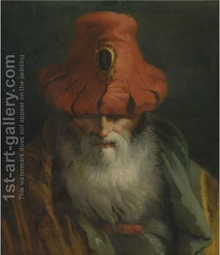 Head Of An Old Man by Giovanni Domenico Tiepolo - Reproduction Oil Painting