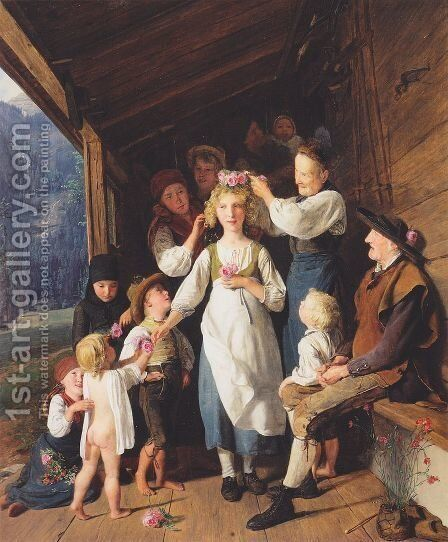 The Bridesmaid by Ferdinand Georg Waldmuller - Reproduction Oil Painting