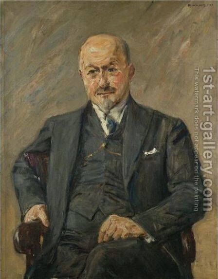 Dr Alfred Guttmann by Max Liebermann - Reproduction Oil Painting