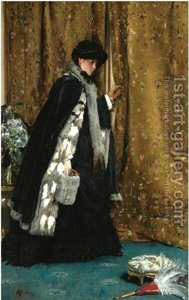 La Visite Matinale by Alfred Stevens - Reproduction Oil Painting