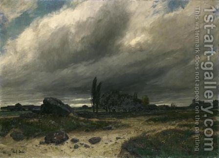 Stormy Landscape, 1894 by Adolf Stabli - Reproduction Oil Painting