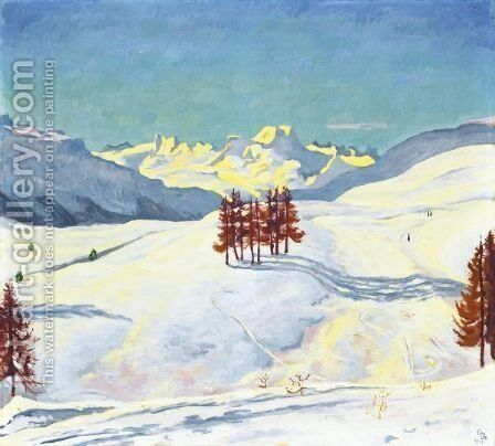 Winter Near St. Moritz, 1916 by Giovanni Giacometti - Reproduction Oil Painting