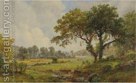 Haying Time by Jasper Francis Cropsey - Reproduction Oil Painting