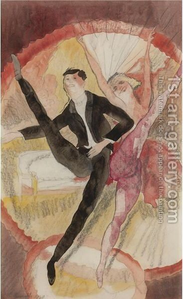 In Vaudeville, Two Dancers by Charles Demuth - Reproduction Oil Painting