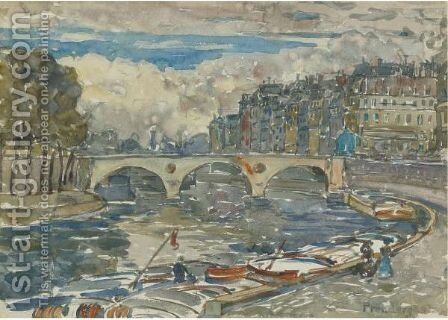 Pont Marie by Maurice Brazil Prendergast - Reproduction Oil Painting