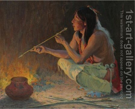 The Arrow Maker by Eanger Irving Couse - Reproduction Oil Painting