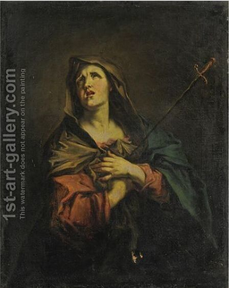 Santa Giustina by Giuseppe Antonio Pianca - Reproduction Oil Painting