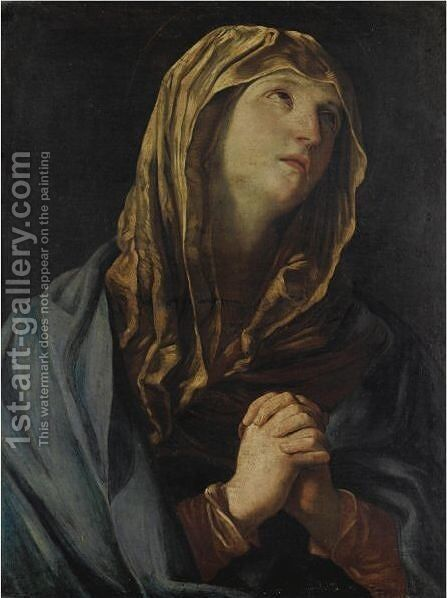 Madonna In Preghiera by (after) Guido Reni - Reproduction Oil Painting