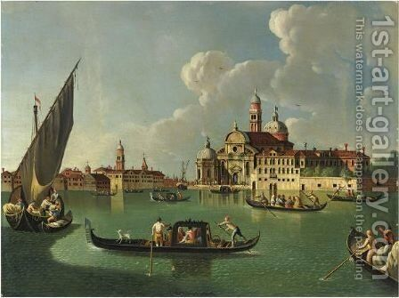 Venezia, San Michele by (after) Giovanni Richter - Reproduction Oil Painting