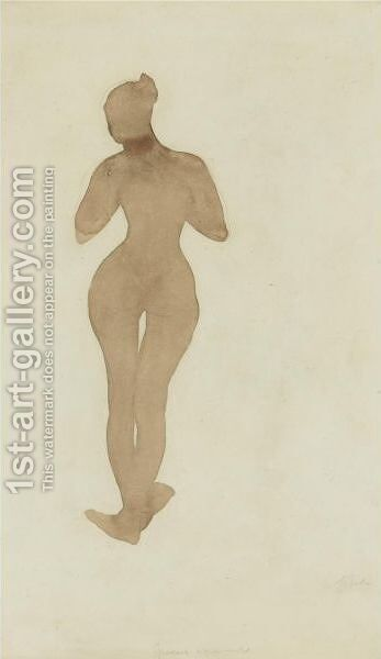 Femme Nue Debout by Auguste Rodin - Reproduction Oil Painting