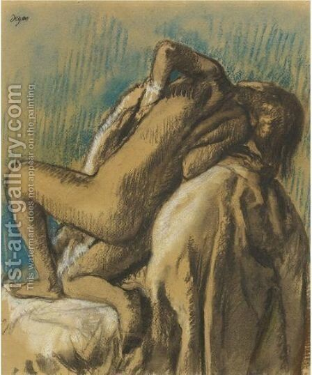 Au Repos Apres Le Bain by Edgar Degas - Reproduction Oil Painting